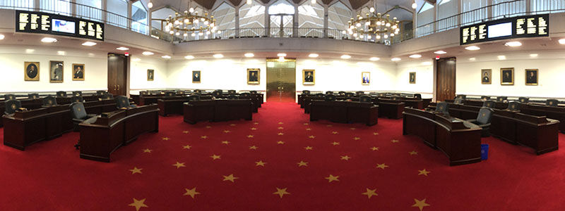 House chamber panoramic photo